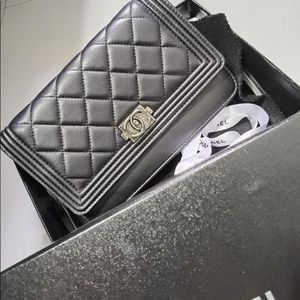 Chanel Boy Small Bag On The Chain WOC